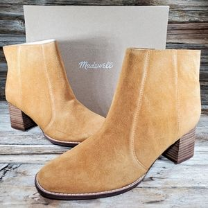 Madewell Bryce Calf Suede Equestrian Ankle Chelsea